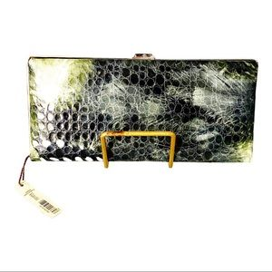 Kate Landry Tie Dye Clutch Purse Green + Multi NWT